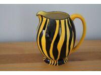 Rare 1950s yellow and black Wade jug