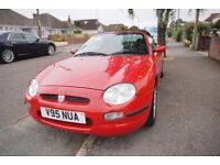 Red MG 1999 Convertible