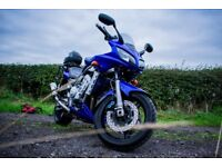 YAMAHA FZS 1000 BLUE SCORPION EXHAUST BELLY PAN GIVI RACK LOTS of extras