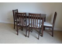 dining table and 4 chairs - collection only