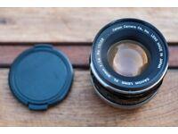 Canon FL 50mm f/1.4 FD mount prime lens