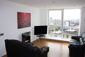 Beautiful Apartment on 18th floor with view over Belfast mountains to Let in exclusive Obel Tower