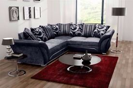GENUINE QUALITY DFS SHANNON FABRIC CORNER SOFA IN LEATHER, LEFT & RIGHT ARM ALSO IN 3+2 SEATER SUITE
