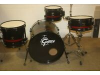 Gretsch Catalina Club Series Drum Kit Black with Red Banding 20in Bass Drum - Drums Only - £425 ono