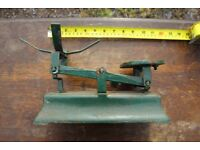 Green painted Vintage Iron Kitchen Scales