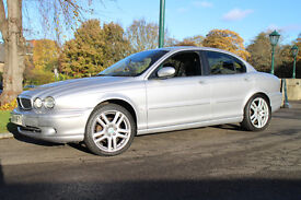 JAGUAR X-TYPE V6 SPORT MANUAL SILVER 1/2 LEATHER 85k FSH VGC *SHORT MOT BARGAIN £895* (Like MONDEO)