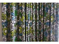 Betty Lime designer curtains (Pair) for large window.