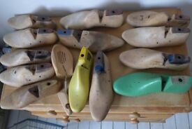 13 VINTAGE / ANTIQUE WOODEN SHOE LASTS, which came from the real-life KINKY BOOTS shoemakers factory