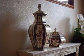 Lamp base and matching jar