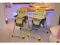 2 x Chicco High chairs good quality from a clean home £50