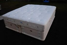 Double (king size) divan bed and comfy mattress or 2 singles