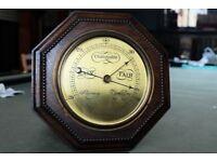 Antique Octagonal Oak Barometer