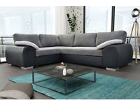 **SOFA BEDS** Enzo Corner Sofa Bed / Available in leather or fabric/leather