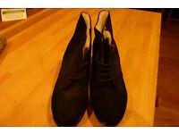Vintage black ladies shoes, Germany about 1943