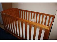 Aylesbury cotbed and bamboo springs mattress