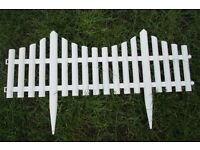 Brand new - white plastic picket fence panels.