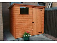 NEW GARDEN SHEDS IN 16MM WEATHERBOARD 8x6 £430