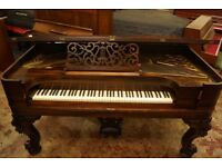 Antique sculpted square grand piano cc. 1874 - Delivery world wide available