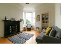 FESTIVAL LET: (Ref 123) Bright & spacious 2 bed flat on Brunton Terrace with shared garden!