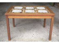 Small Retro table with tiled design