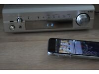 DENON DRA-F101 AMP 100W/BUILTIN RADIO/AUXIN PLAY IPODPHONE/POWERCABLE