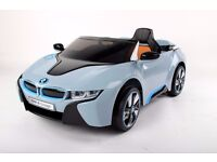 Kids Blue BMW i8 Ride On Electric Toy Car With Remote Control MP3 Player