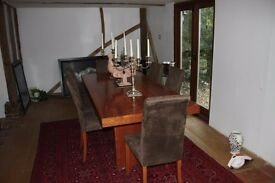 Stunning Cherrywood Dining Table and six chairs