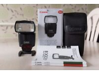 Canon speedlite 430EXII flashgun in excellent condition with original box and packaging