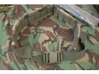 New - Arktis Woodland Camo Padded Webbing Military Belt