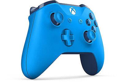 Genuine Microsoft Xbox One S Blue Wireless Bluetooth Controller WL3-00018 In Box