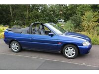 Ford Escort Convertible 1998, 1.8i Ghia 16v. Reliable car. 7 months MOT, Low mileage for year 69K.