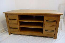 Oak TV Unit Cabinet Corner