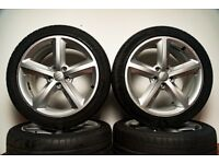 "Audi S line 18 alloy wheel 18"" 5 spoke A4 A5 A6 TT Genuine"
