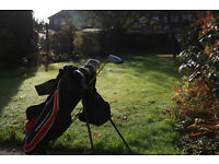Junior Golf Clubs and Carry Bag with Stand