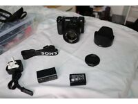 SONY a6500 Mirrorless Camera With 55mm Lens , 4K Ultra HD 3840 x 2160p @ 120 fps