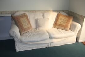 Large White Four Person Sofa
