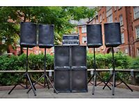 PA Speaker Sound System /Lighting system-Events,Parties, Weddings, Functions - Plug in ANY / LONDON