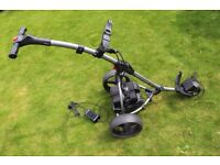 Motocaddy S1 digital electric trolley with 18 hole battery, charger and cover in very good condition