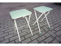 Green / Blue Patterned Funky Retro Camping Chairs FREE DELIVER CENTRAL EDINBURGH