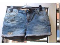 Topshop MOTO ladies denim shorts. W30' (78cm).