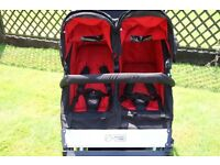 Mountain Buggy Duet in black/red with EVERY extra! In lovely condition.
