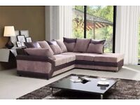 CORNER OR 3 + 2 SEATER BROWN BEIGE BLACK AND GREY COLOUR DINO SOFA SET WITH EXTRA CUSHIONS