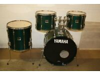 Yamaha Stage Custom Emerald Green Lacquer 4 Piece Drum kit - 12 + 13 + 16 Toms + 22 Bass DRUMS ONLY
