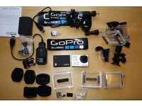 Go Pro Hero 3 With accessories