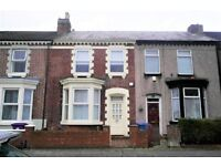 38 Chester Rd, Anfield. 3 bed terraced house with GCH & DG, fitted kitchen and bathroom. DSS welcome