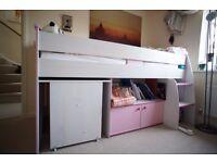 DREAMS Zoe Midsleeper Bunk Bed Strawberry Sundae Princess Dream RRP 399 - Cambridge CB1