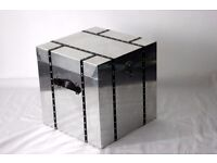 Aviator Aluminium and leather Storage box/chest/coffee table