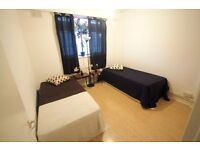 NEW COSY TWIN ROOM IN CAMDEN TOWN GREAT AREA ONLY HALF MONTH DEPOSIT. 28I