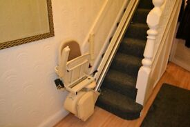 Brooks straight stairlift with rotating seat