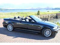 BMW 330 MSPORT CONVERTIBLE E46 FSH LONG MOT RARE MANUAL MV1 ALLOYS HEATED LEATHER REDUCED TO £3195